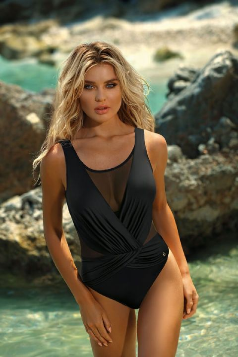 Self - Crossover Navy Swimsuit